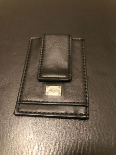 black single wallet with money clip