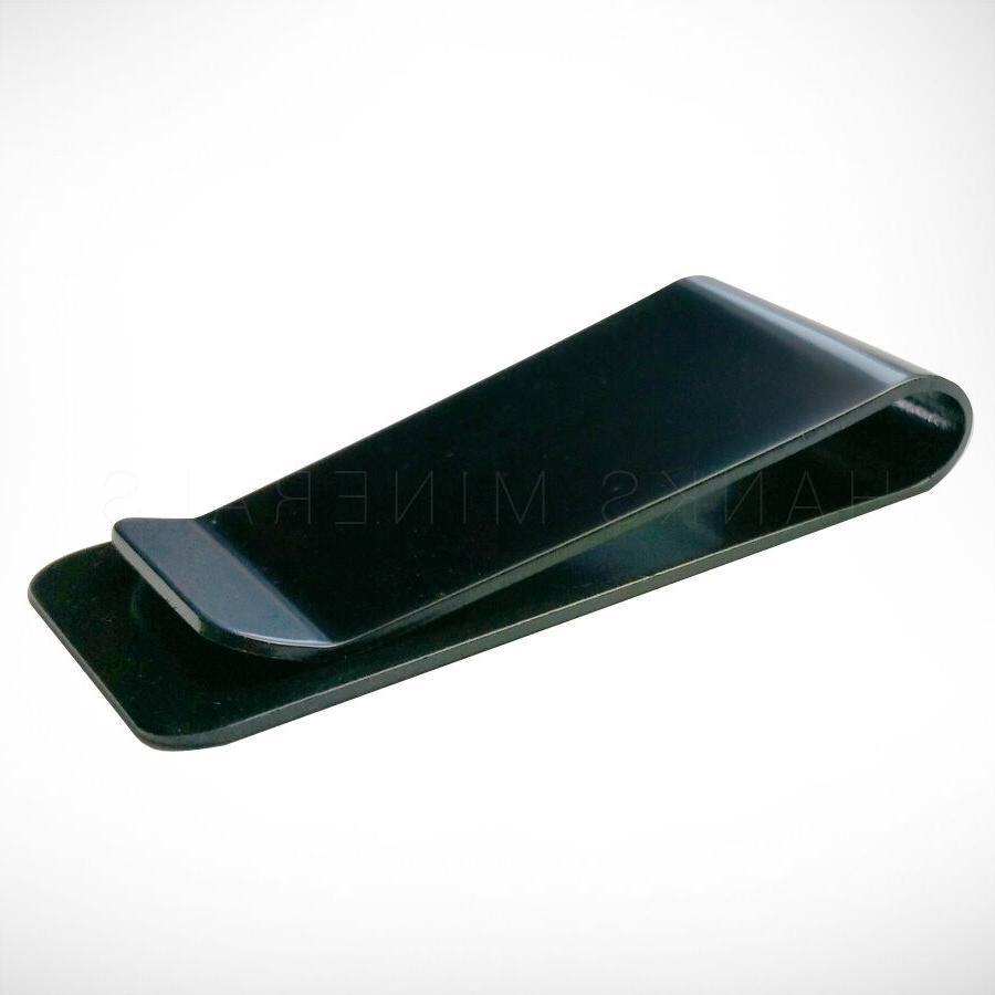Black Stainless Steel Clip Metal Holder Wallet Card USA