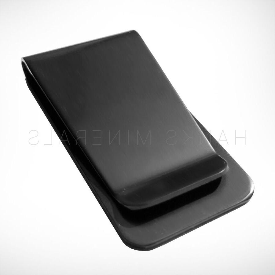 black stainless steel money clip