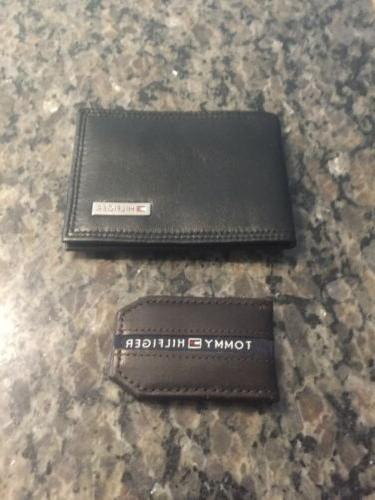black wallet and money clip nwob