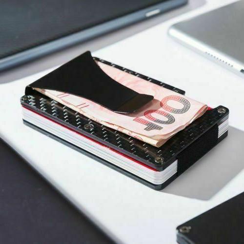 Black Money Clip Minimalist Front Pocket Bag