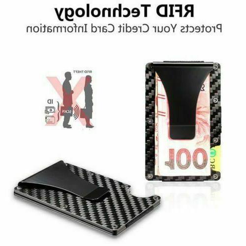 Black Carbon Money Clip Front Pocket Bag US