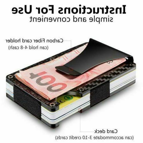 Black Fiber Money Clip Minimalist Front Pocket Safety