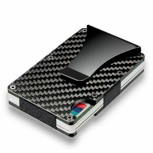 Black Wallet Carbon Money Pocket Bag
