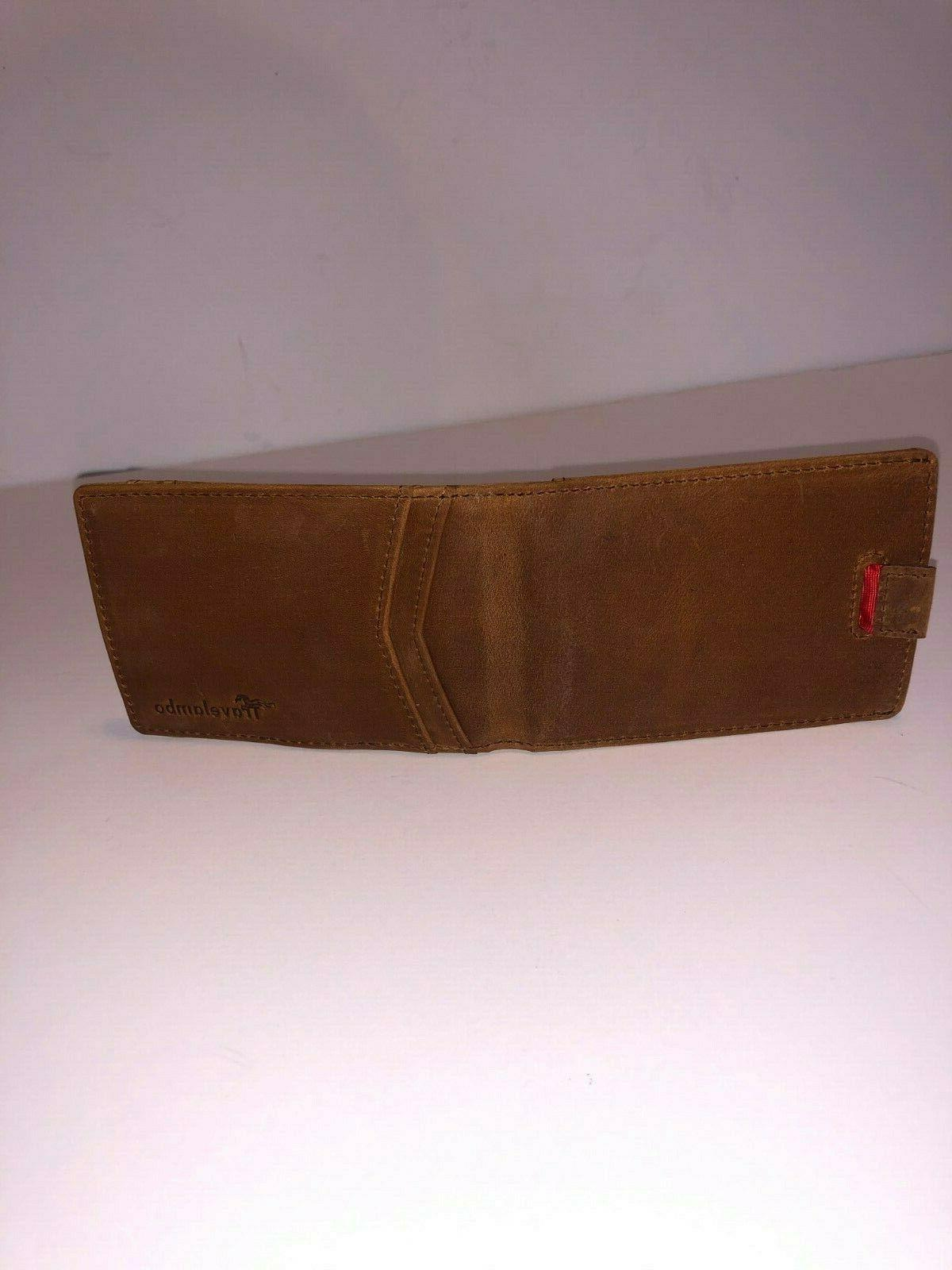 Travelambo Brown Mens With Clip and - NEW