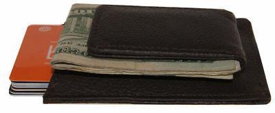 Brown Magnetic Money Clip Front Pocket Slim