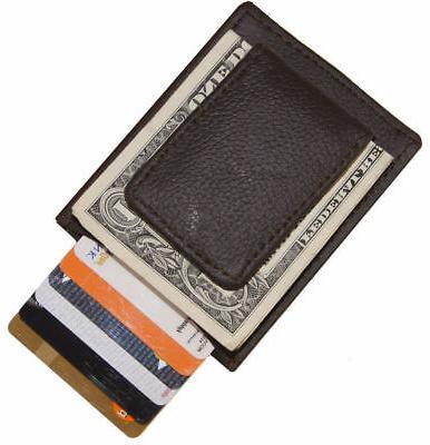 Brown Leather Money Men's Pocket