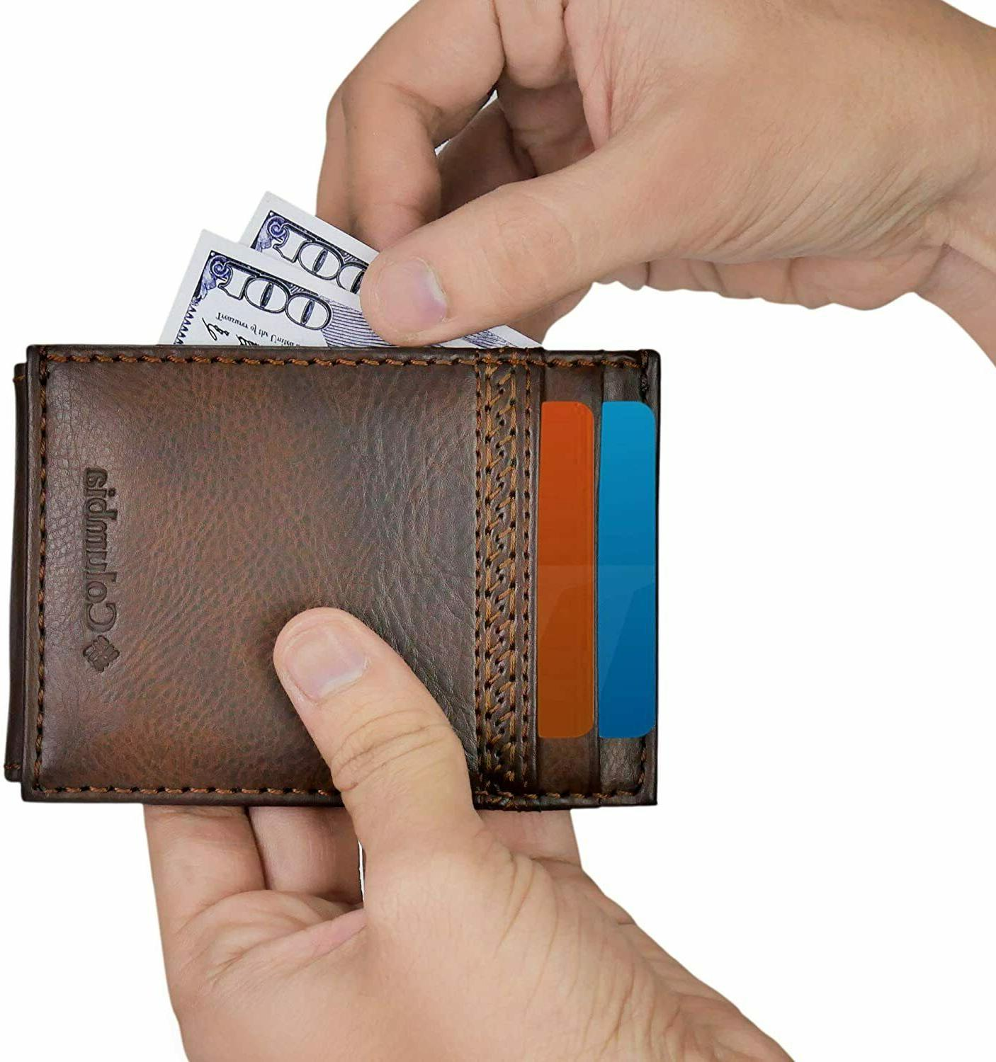 Columbia In Shield Wallet With Magnetic Money