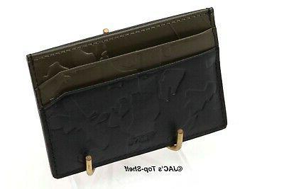 camo embossed leather money clip