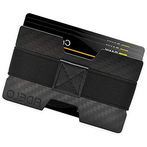 5941ba6b9482 FIDELO Carbon FIber Minimalist Wallet - Mens Slim