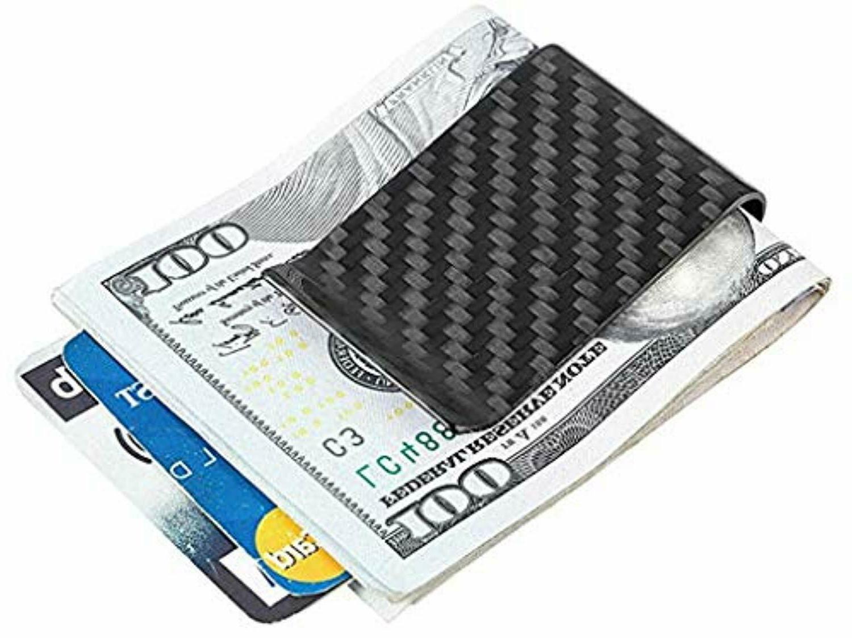 Travelambo Carbon Fiber Money Clip delantero