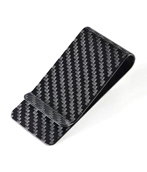 Carbon Fiber Money Clip Credit Card holder-CL CARBONLIFE Bus