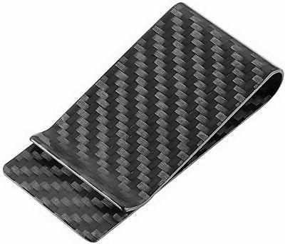 carbon fiber money clip front