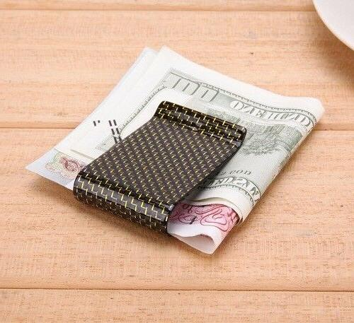 Carbon Money Clip Genuine Strong Lightweight Money Organizer