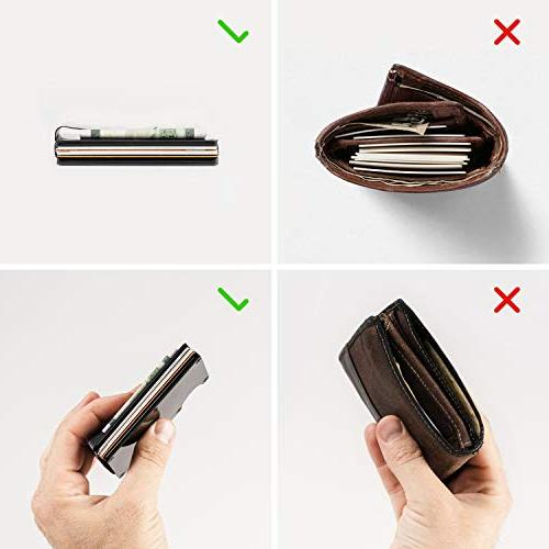 Carbon Fiber Wallet - Aluminum Mens Upgraded