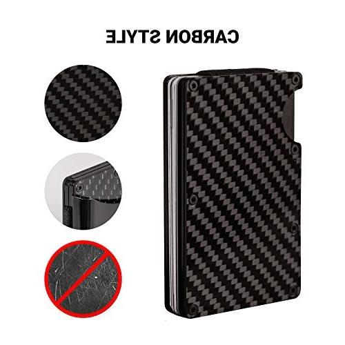 Carbon Money Wallet Credit Card RFID Mens Minimalist Credit Card 2019 Upgraded