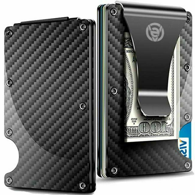 carbon fiber money clip wallet aluminum credit