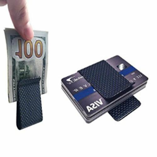 Carbon Money Clip Wallet Credit Holder