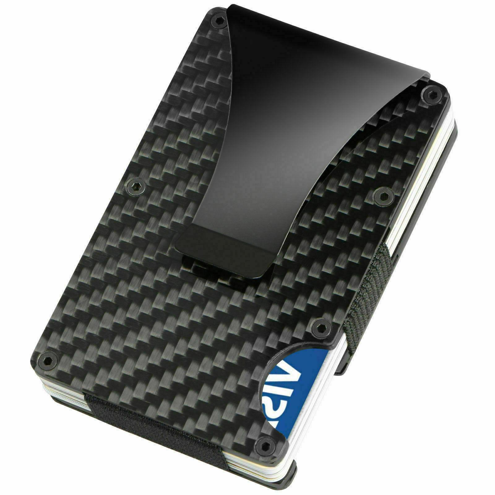 Carbon Wallet Men RFID Minimalist