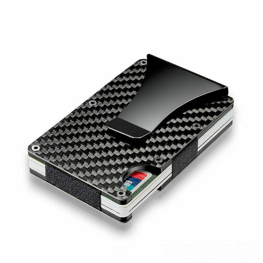 Carbon Wallet RFID Blocking Minimalist Credit