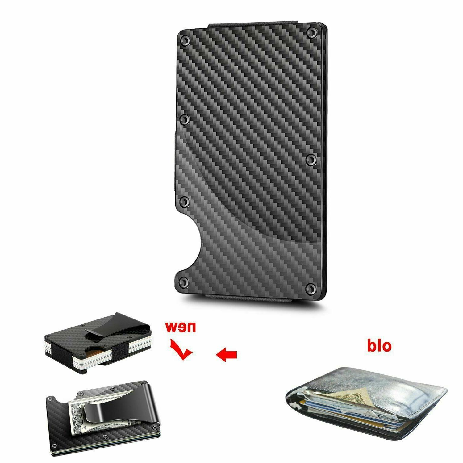 Carbon RFID Slim Holder Metal Men's Gift