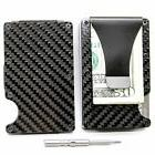 carbon fiber wallet money clip by rfid