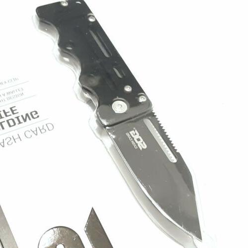 SOG KNIFE KNIVES MONEY CLIP LIGHTWEIGHT LINER LOCK POCKET