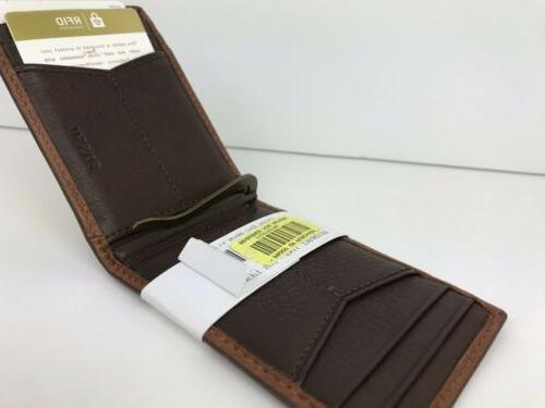 fossil bifold card case