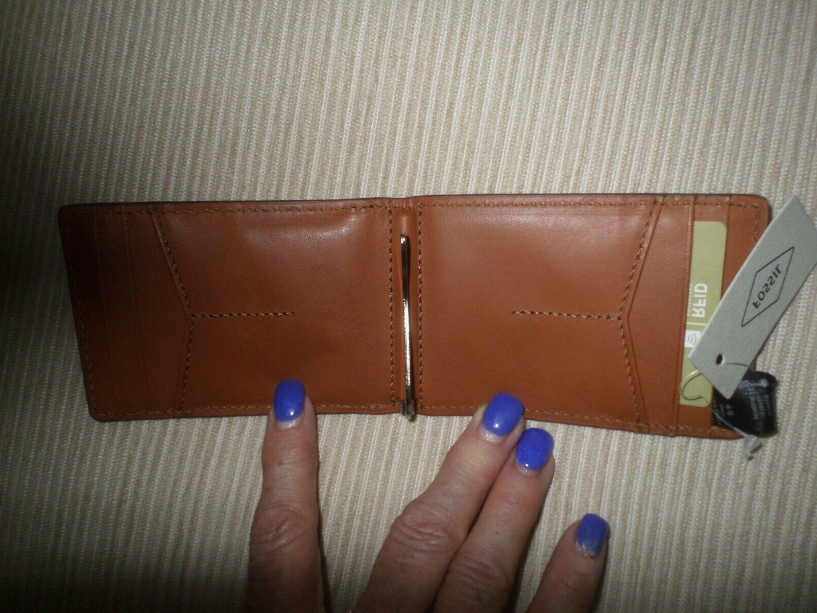 Fossil Brown Black RFID Wallet