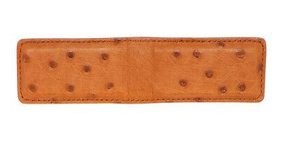 Cognac Small Ostrich Skin Clip - IN THE
