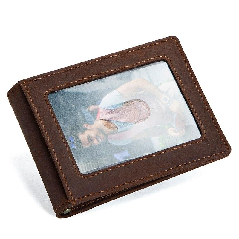 CONTACT'<font><b>S</b></font> Horse RFID Genuine Leather <font><b>Clip</b></font> Wallet Bifold clamp cash holder coin purse