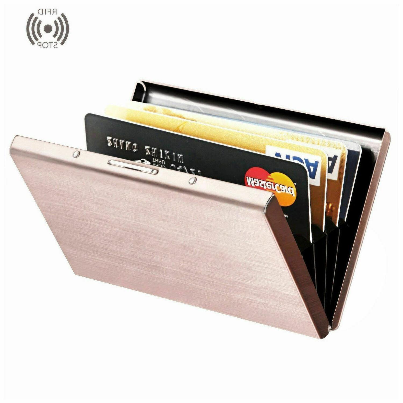 Credit Card Holder Money Clip Slim Pocket Block