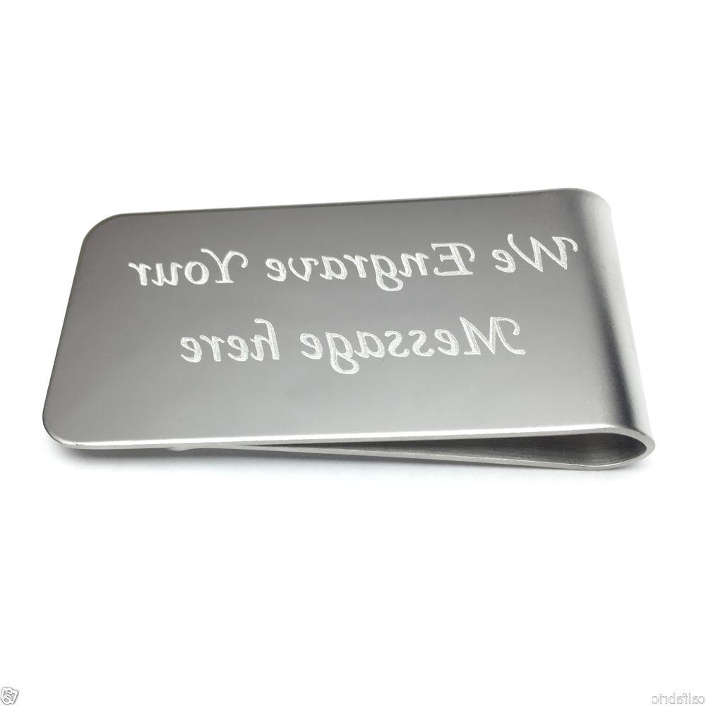 custom engraved stainless steel money clip wedding