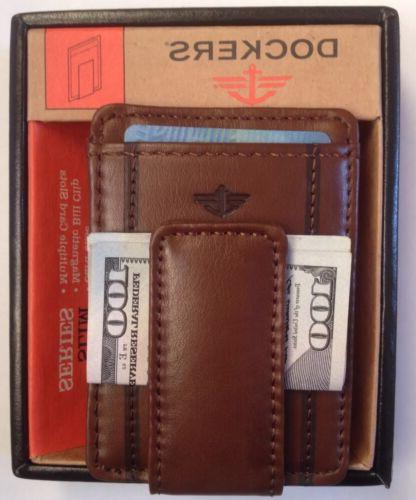 Dockers® Leather Magnetic Money Clip Card Case Front-Pocket