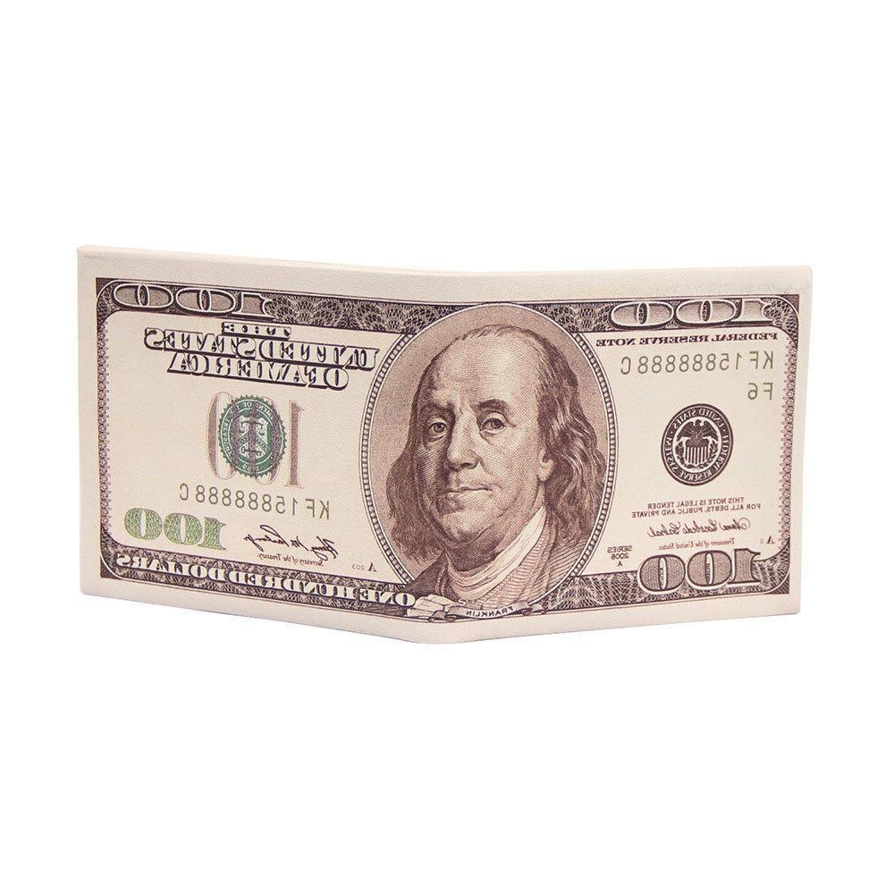 Dollar/Pound/Euro Bifold Case Holder Clip ID Unisex