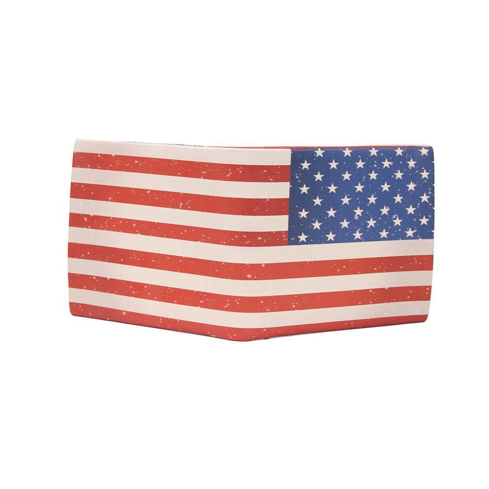 Dollar/Pound/Euro Bifold Leather Case Holder ID Wallet Unisex