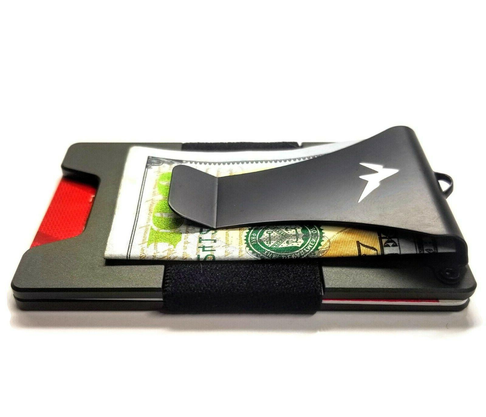 EDC Men's Tactical Wallet Minimalist Money Clip Pocket Slim RFID
