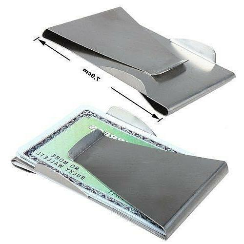 fashion chrome credit card holder money clip