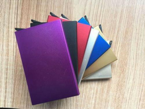 Fashion Aluminum Clip Magnet Wallet ID Card Case