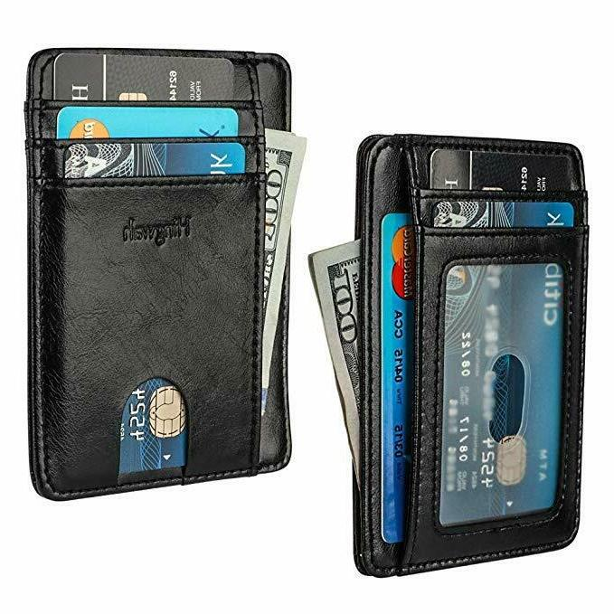 FRONT POCKET LEATHER RFID ID Holder Women's Gift