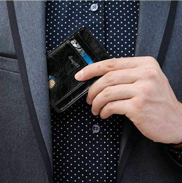 FRONT WALLET RFID Blocking ID Holder Slim Men's Gift