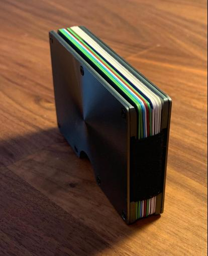 Front Pocket Wallet Ridge Money Clip D/Gray Metal