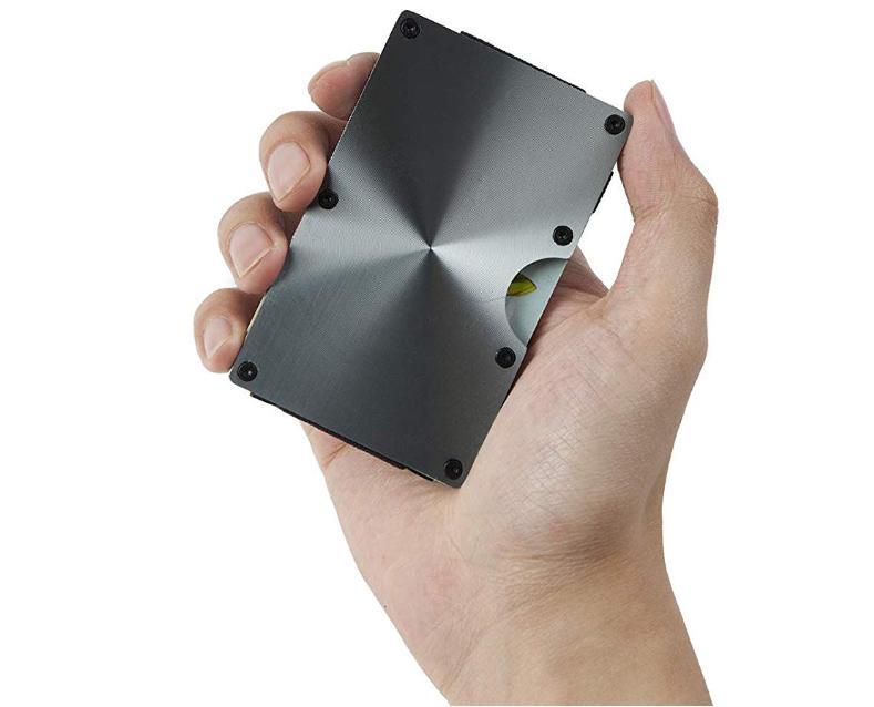 Front Wallet Minimalist Ridge Money Clip Metal RFID