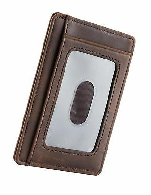 Travelambo Front Pocket Wallet Minimalist Wallets Wallet Money
