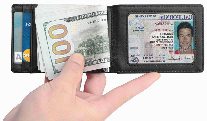 Front Money Clip Rfid Id Holder