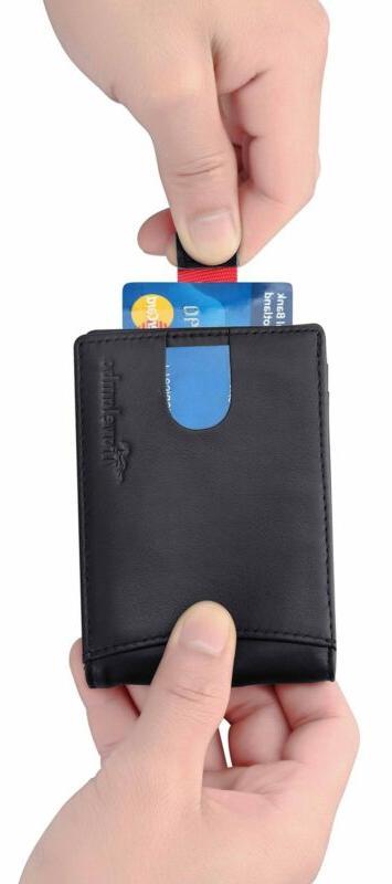 Front Pocket Wallet Money Clip Id Card Holder