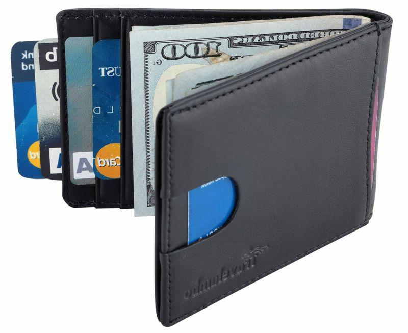 Front Pocket Clip Rfid Blocking Id Credit Card Slim Holder