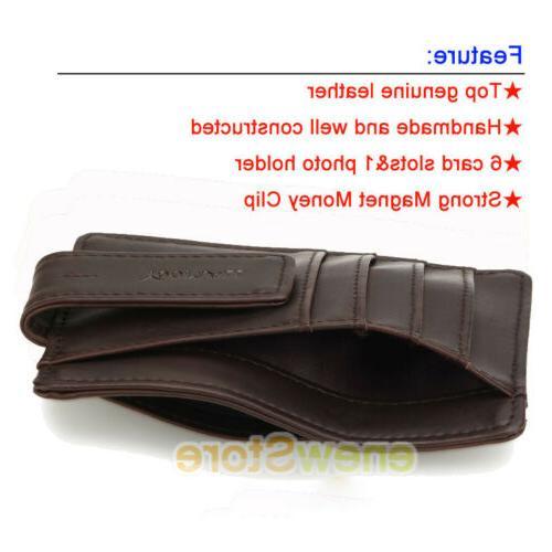 Front Pocket Wallet Money Clip RFID ID Credit Slim Holder