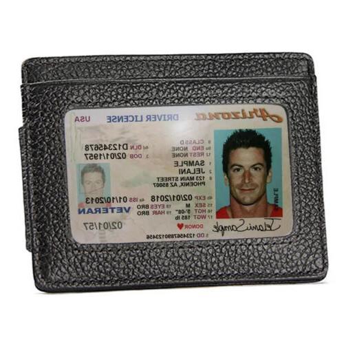 Front Wallet Clip Blocking ID Holder