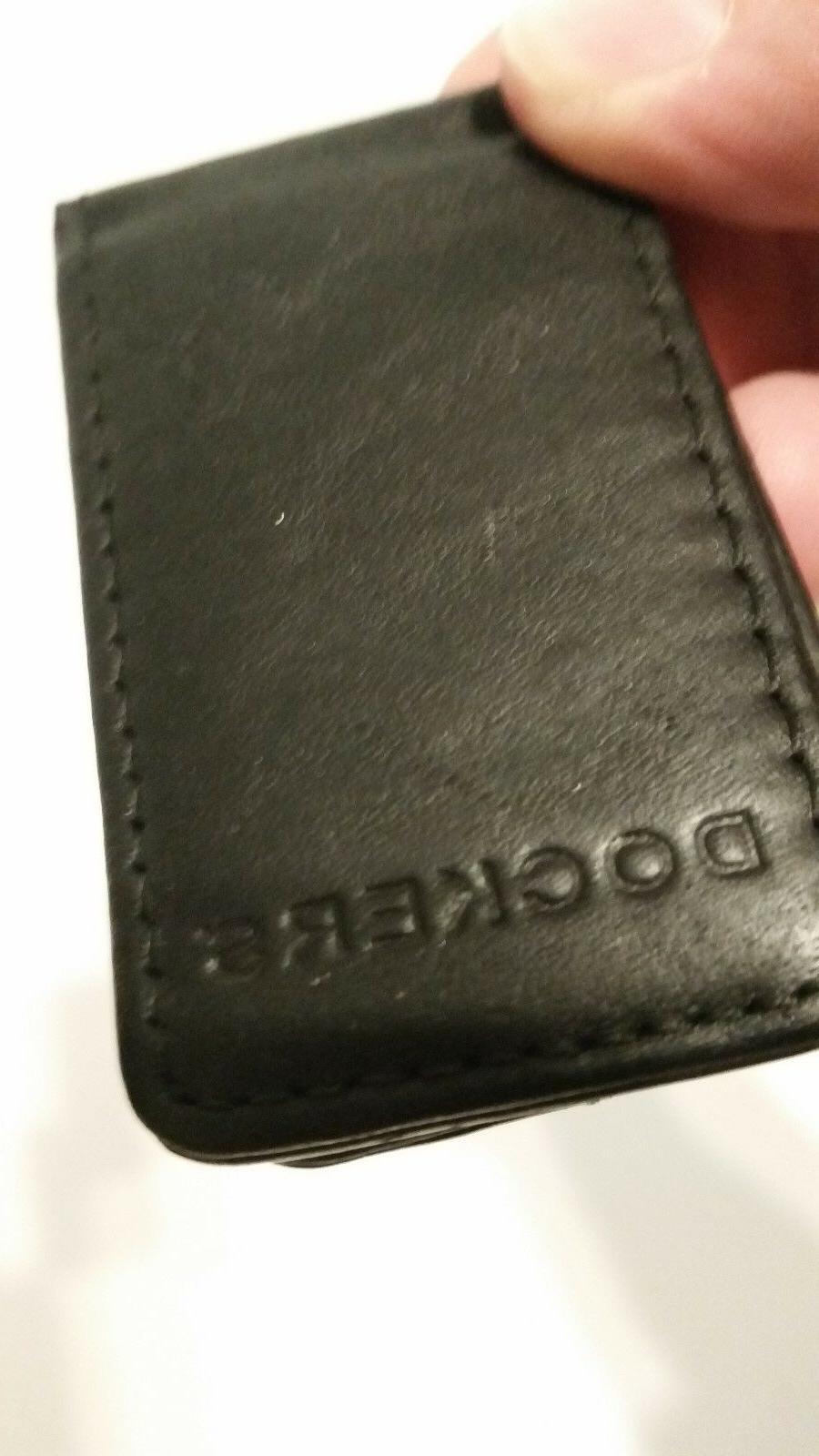 Genuine Black Leather Magnetic